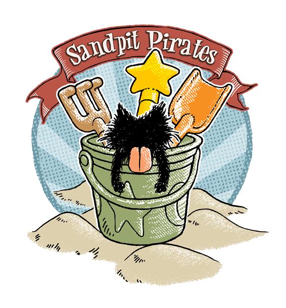 ベロ出し猫 砂場海賊