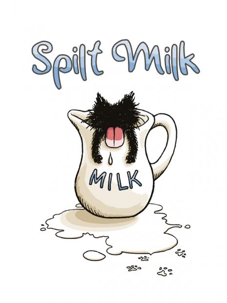 こぼれミルク猫