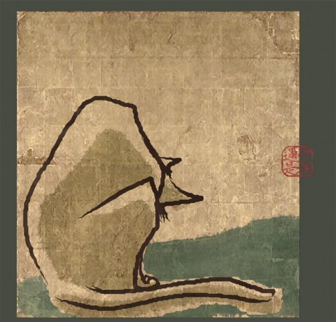 しょんぼり猫