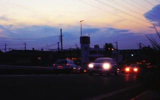 夕方の国道
